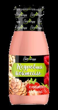 Кедровый коктейль BioNergy с клубникой и малиной