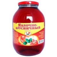 Яблочно-брусничный сок